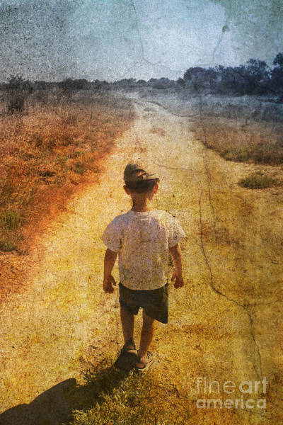 Desert Paintbrush Photograph - Child On The Road by Christophe ROLLAND