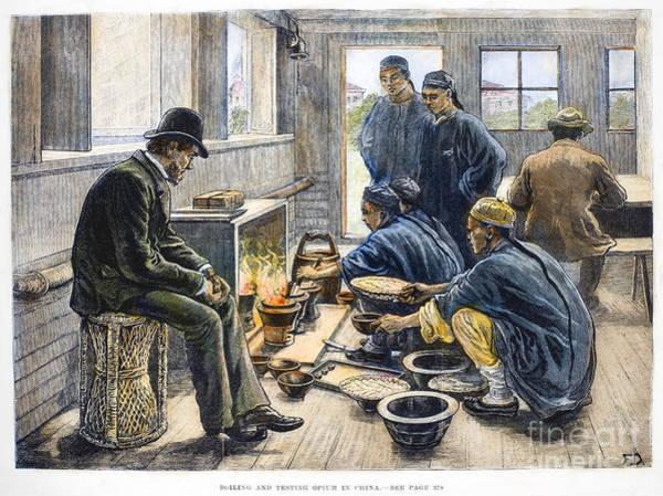 China: Boiling Opium, 1881 Art Print
