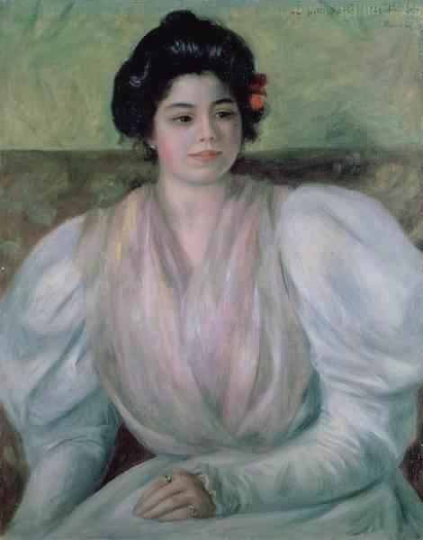 1897 Painting - Christine Lerolle by Pierre Auguste Renoir