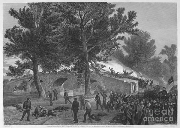 Burnside Bridge Photograph - Civil War: Antietam, 1862 by Granger