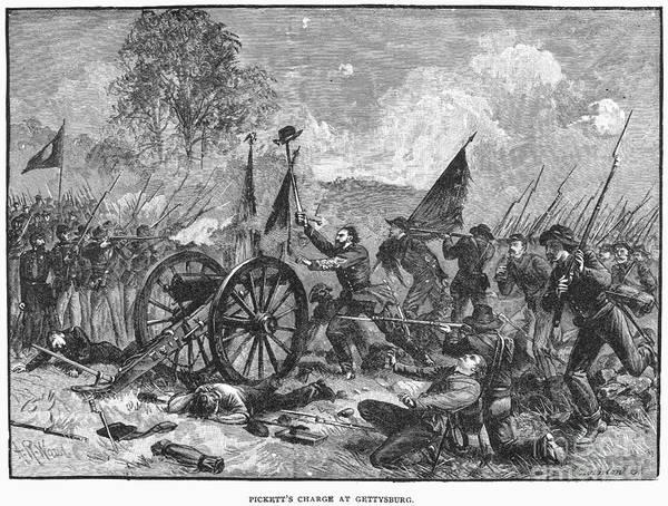 Cemetery Ridge Photograph - Civil War: Gettysburg by Granger