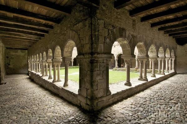 Belief Photograph - Cloister Of Lavaudieu. Haute Loire. Auvergne by Bernard Jaubert