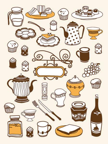 Jug Digital Art - Close-up Of Food Stuff by Eastnine Inc.