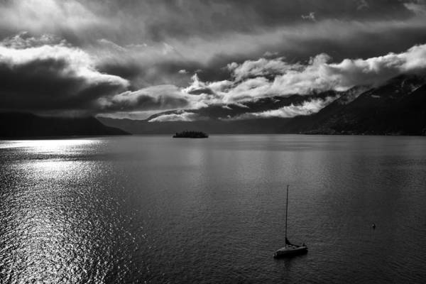 Ticino Photograph - clouds over the Lake Maggiore by Joana Kruse
