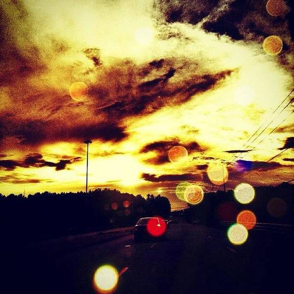 Iphoneography Wall Art - Photograph - #cloudstagram #cloudsky #cloudsoftheday by Katie Williams
