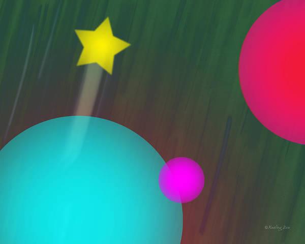 Digital Art - Cmyk Spheres by Xueling Zou