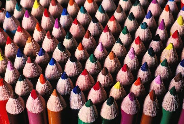 Pencil Drawing Photograph - Colored Pencils by Garry Gay