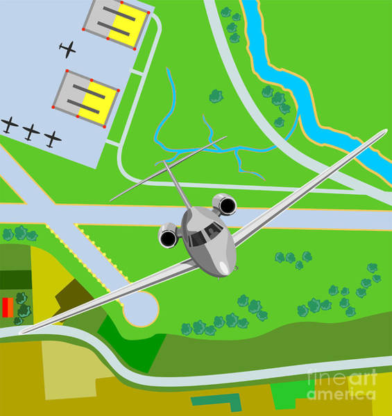 Wall Art - Digital Art - Commercial Jet Plane by Aloysius Patrimonio