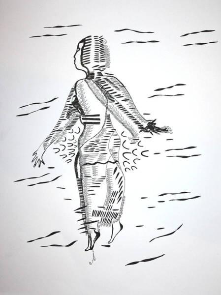 Drawing - Comoros Islands Dance by Gloria Ssali
