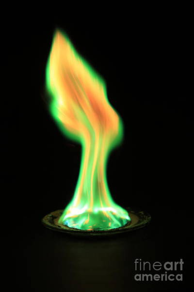 Photograph - Copperii Chloride Flame Test by Ted Kinsman