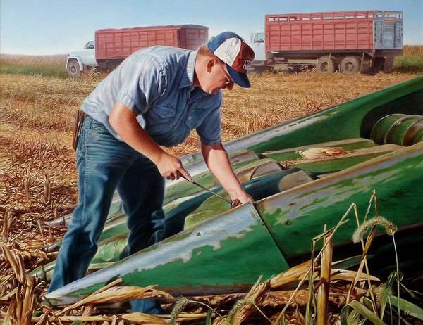 Hans Droog Wall Art - Painting - Corn Harvest by Hans Droog
