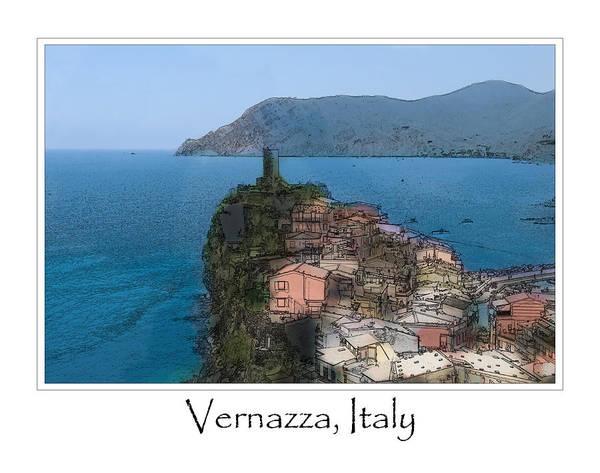 Digital Art - Corniglia Cinque Terre Italy by Brandon Bourdages