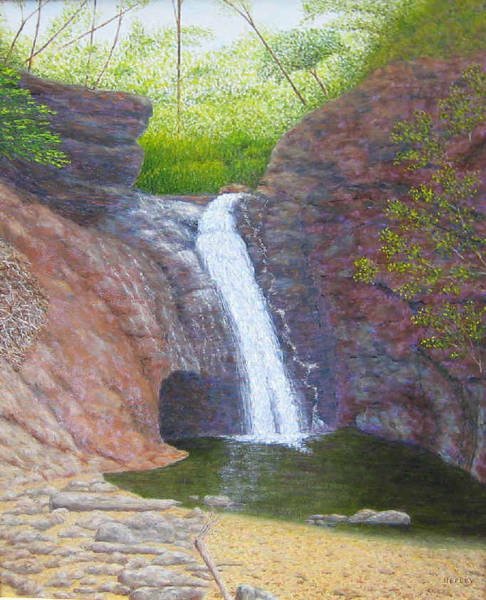 Courthouse Falls Painting - Courthouse Falls by Jim Hefley