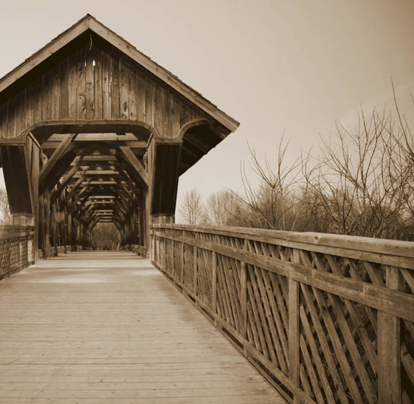 Photograph - Covered Bridge Guelph Ontario by Nick Mares