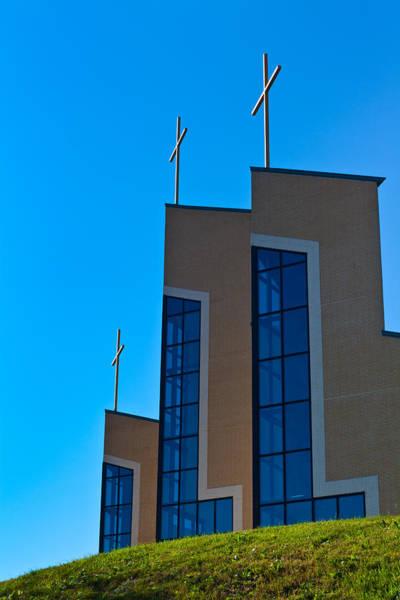 Photograph - Crosses Of Livingway Church by Ed Gleichman