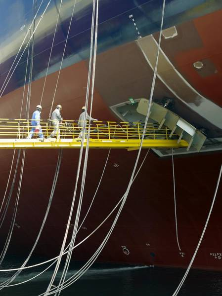 Cabling Photograph - Crude Oil Tanker by David Parker