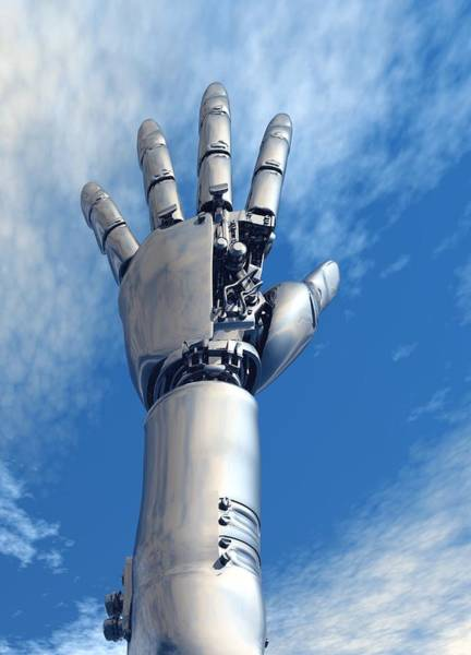 Biomedical Engineering Wall Art - Photograph - Cybernetic Arm, Artwork by Victor Habbick Visions