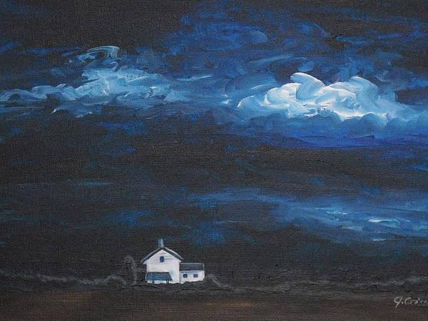 Wall Art - Painting - Dark Storm by Jana Caissie