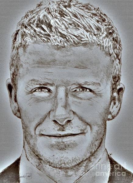 2010 Fifa World Cup Wall Art - Digital Art - David Beckham In 2009 by J McCombie