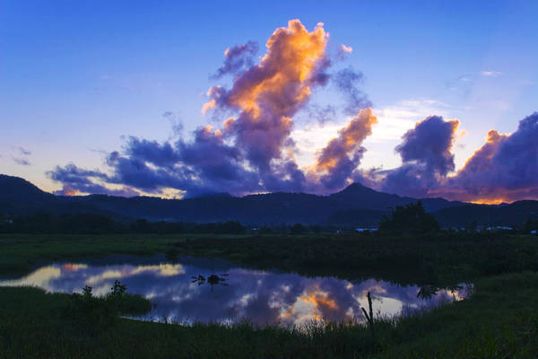 Wall Art - Photograph - Dawn-cul De Sac Valley- St Lucia by Chester Williams