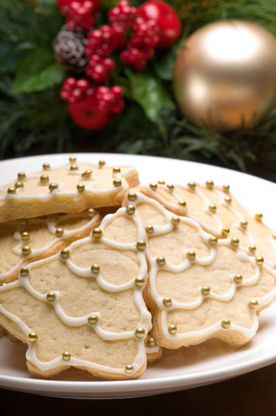 Photograph - Decorated Cookies In Festive Setting by U Schade