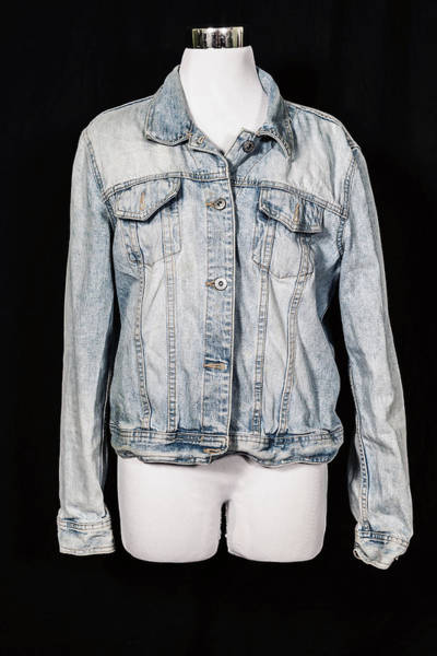 Dress Form Photograph - Denim Jacket by Joana Kruse