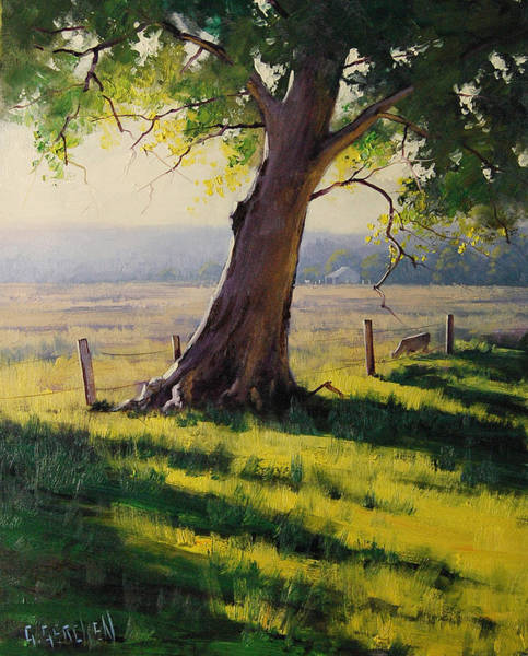 Farm Painting - Distant Farm by Graham Gercken