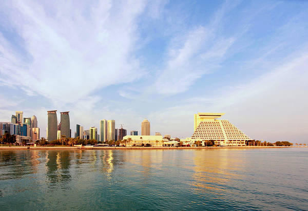 Photograph - Doha Bay At Sunset by Paul Cowan