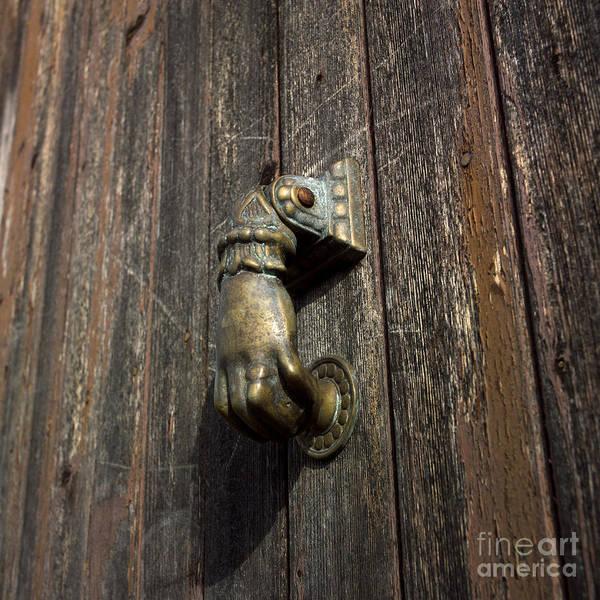 Singly Photograph - Door Handle In The Shape Of A Hand by Bernard Jaubert