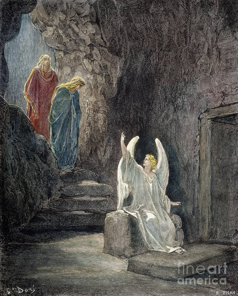 Wall Art - Drawing - Resurrection by Gustave Dore