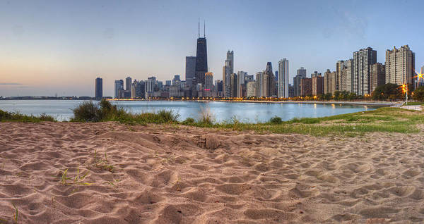 Chicago Skyline Photograph - Downtown Chicago From North Beach by Twenty Two North Photography