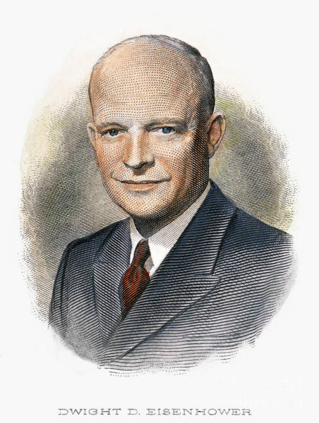 Drawing - Dwight D. Eisenhower by Granger