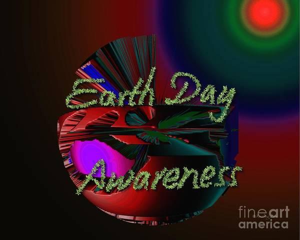 Digital Art - Earth Day Awareness by Xueling Zou