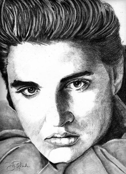 Drawing - Elvis by Bill Richards