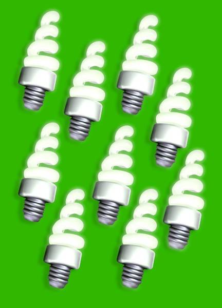 Taper Photograph - Energy-saving Light Bulbs, Artwork by Victor Habbick Visions