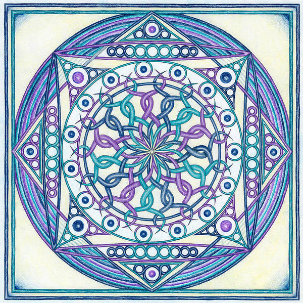 Hindu Drawing - Eternity Mandala by Hakon Soreide