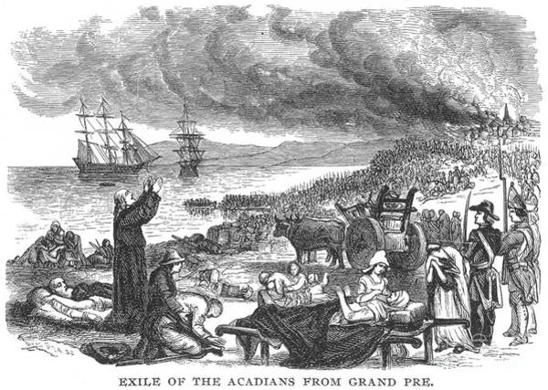 1755 Photograph - Expulsion Of Acadians 1755 by Granger