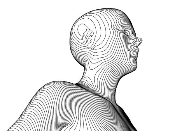 Contour Map Photograph - Female Body Contour Map, Artwork by Pasieka
