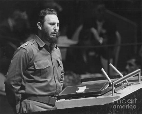 Photograph - Fidel Castro (1926-) by Granger
