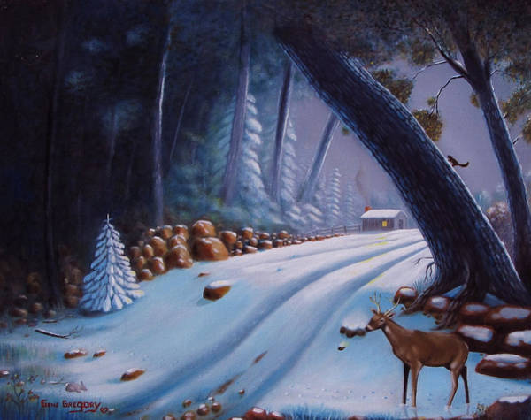 Painting - First Snow  by Gene Gregory