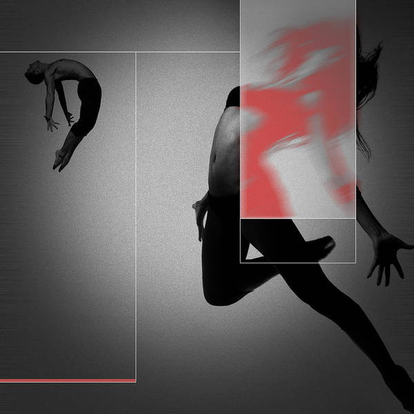 Dancing Digital Art - Flight by Naxart Studio