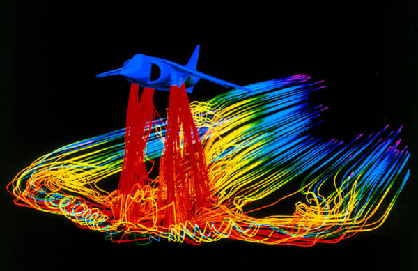 Harrier Photograph - Flight Simulation Of A Harrier Jump-jet by Nasa Ames Research Centre