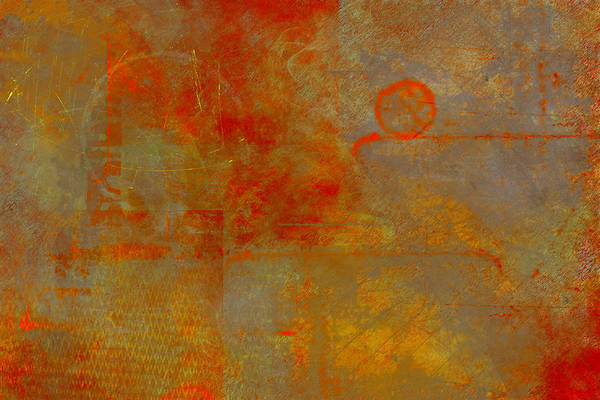 Blending Painting - Fluorescent Rust by Christopher Gaston