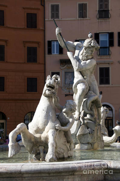 Wall Art - Photograph - Fontana Del Nettuno. Neptune Fountain. Piazza Navona. Rome by Bernard Jaubert