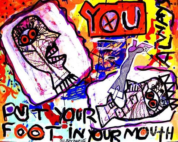 Painting - Foot In Your Mouth by Sandra Silberzweig