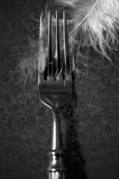 Silverware Photograph - Fork And Feather by Joana Kruse