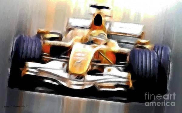 Mixed Media - Formula One by Jerry L Barrett
