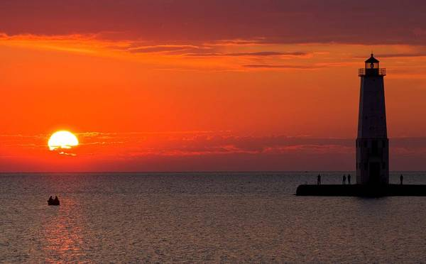 Sun Set Photograph - Frankfort Michigan Sunset by Twenty Two North Photography