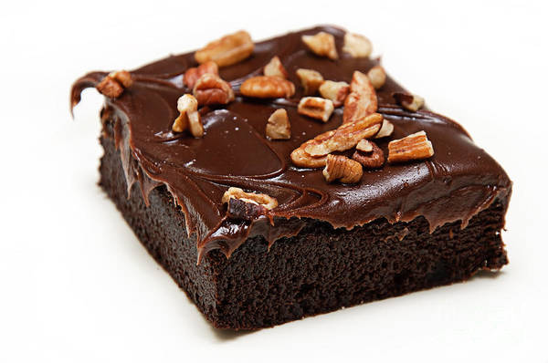 Photograph - Fudge Nut Brownie by Andee Design