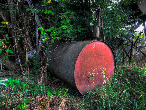 Napanee Photograph - Fuel Drum by John Herzog